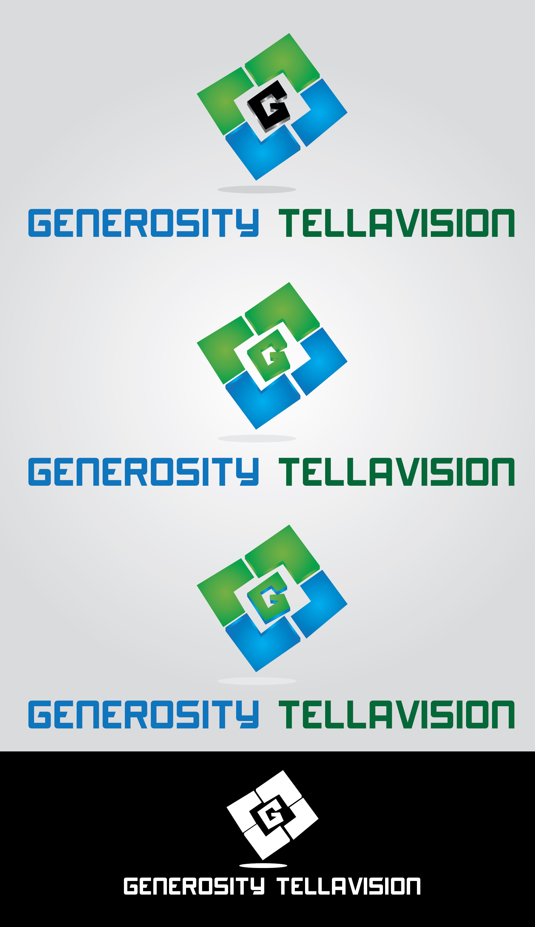 Logo Design by mediaproductionart - Entry No. 61 in the Logo Design Contest Artistic Logo Design for Generosity TellAVision.