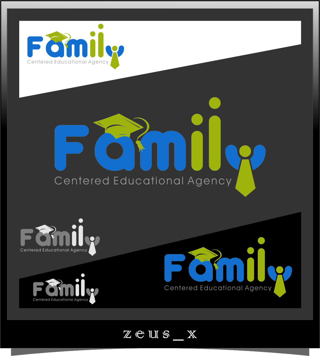 Logo Design by Ngepet_art - Entry No. 26 in the Logo Design Contest Captivating Logo Design for Family Centered Educational Agency.