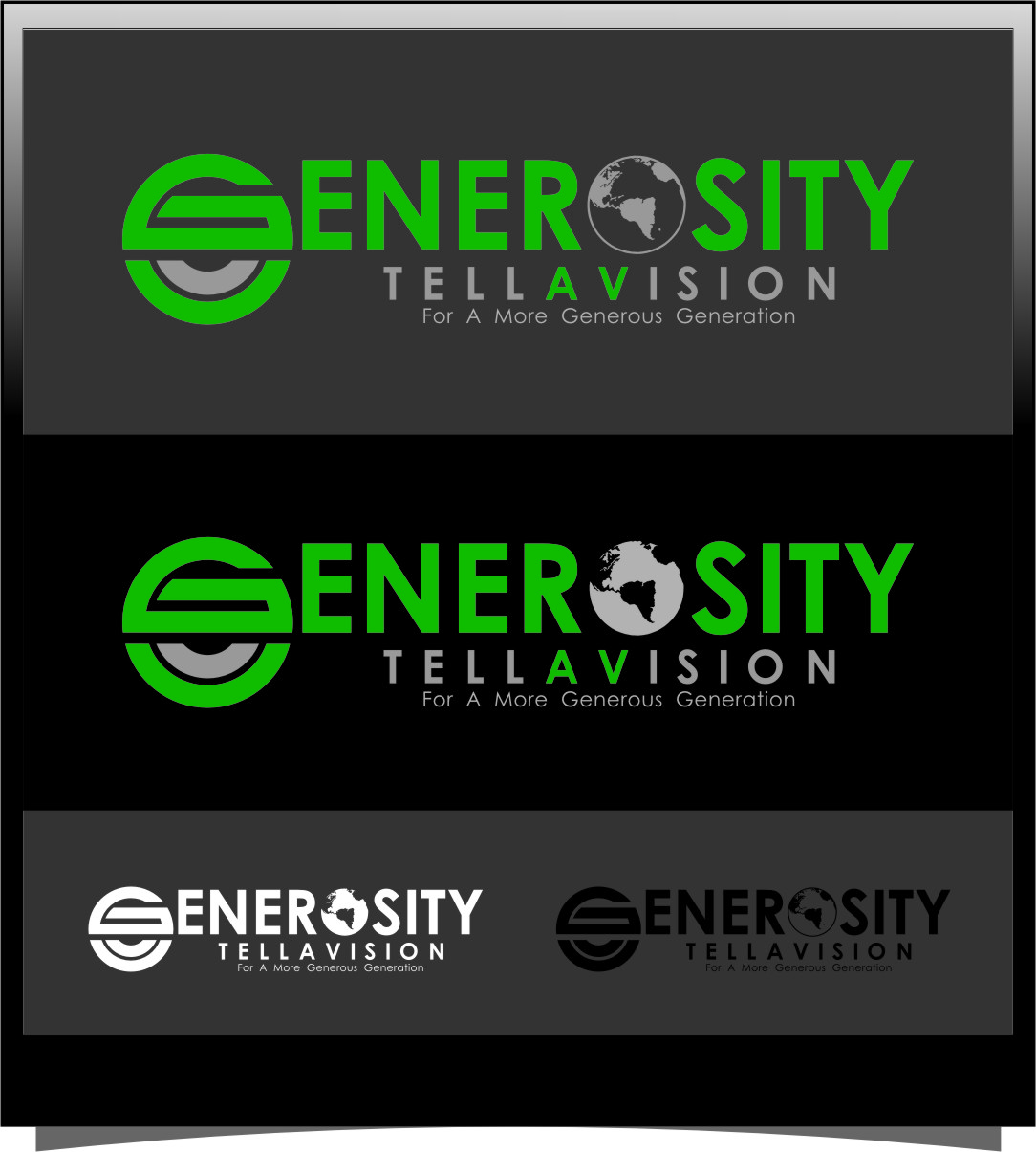Logo Design by RasYa Muhammad Athaya - Entry No. 63 in the Logo Design Contest Artistic Logo Design for Generosity TellAVision.