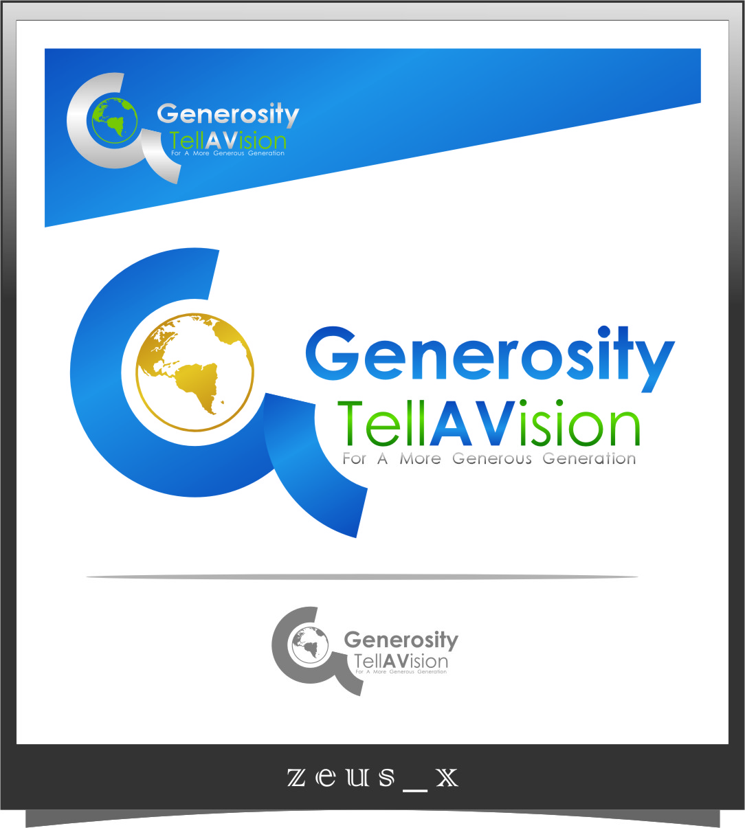 Logo Design by Ngepet_art - Entry No. 65 in the Logo Design Contest Artistic Logo Design for Generosity TellAVision.