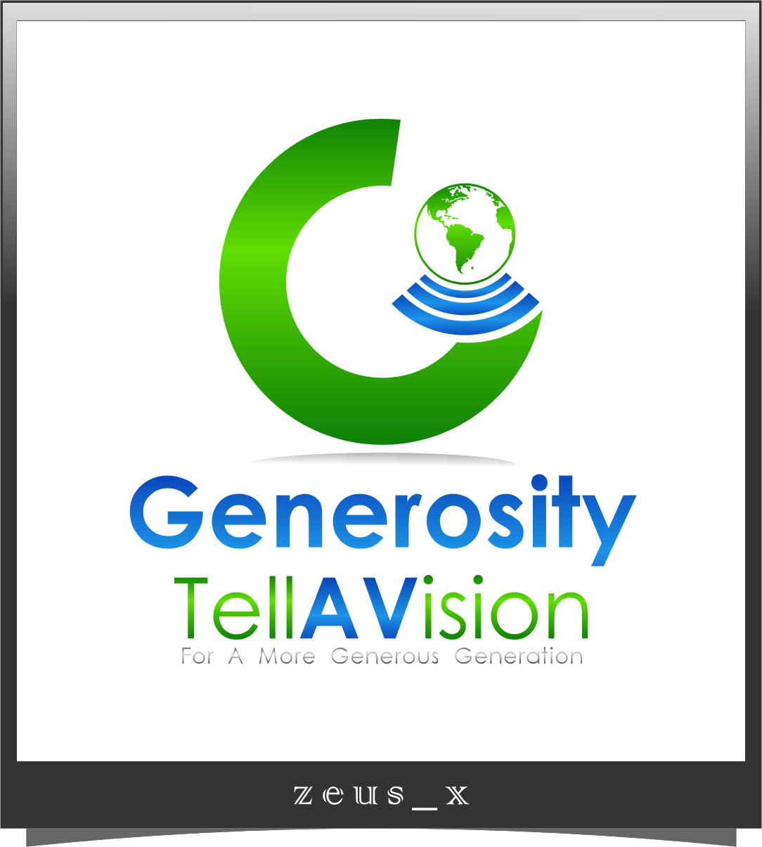 Logo Design by RasYa Muhammad Athaya - Entry No. 68 in the Logo Design Contest Artistic Logo Design for Generosity TellAVision.