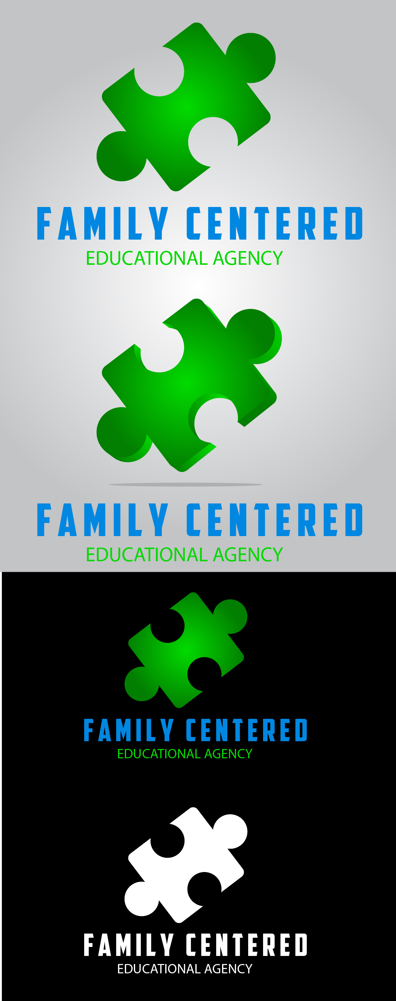 Logo Design by mediaproductionart - Entry No. 27 in the Logo Design Contest Captivating Logo Design for Family Centered Educational Agency.