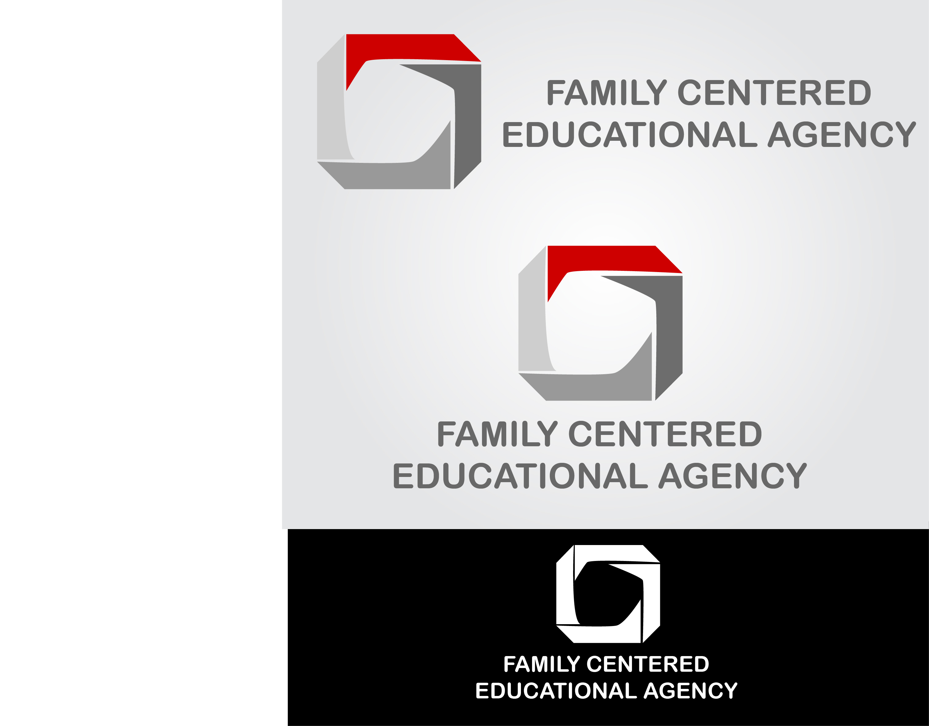 Logo Design by mediaproductionart - Entry No. 29 in the Logo Design Contest Captivating Logo Design for Family Centered Educational Agency.