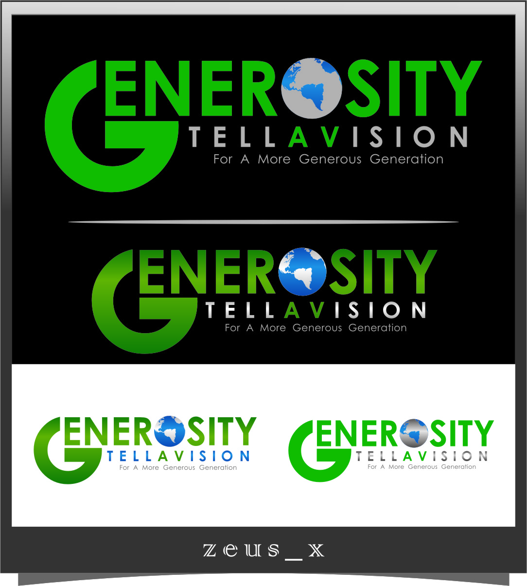 Logo Design by Ngepet_art - Entry No. 70 in the Logo Design Contest Artistic Logo Design for Generosity TellAVision.