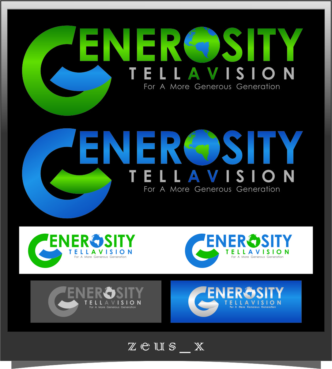 Logo Design by RasYa Muhammad Athaya - Entry No. 71 in the Logo Design Contest Artistic Logo Design for Generosity TellAVision.