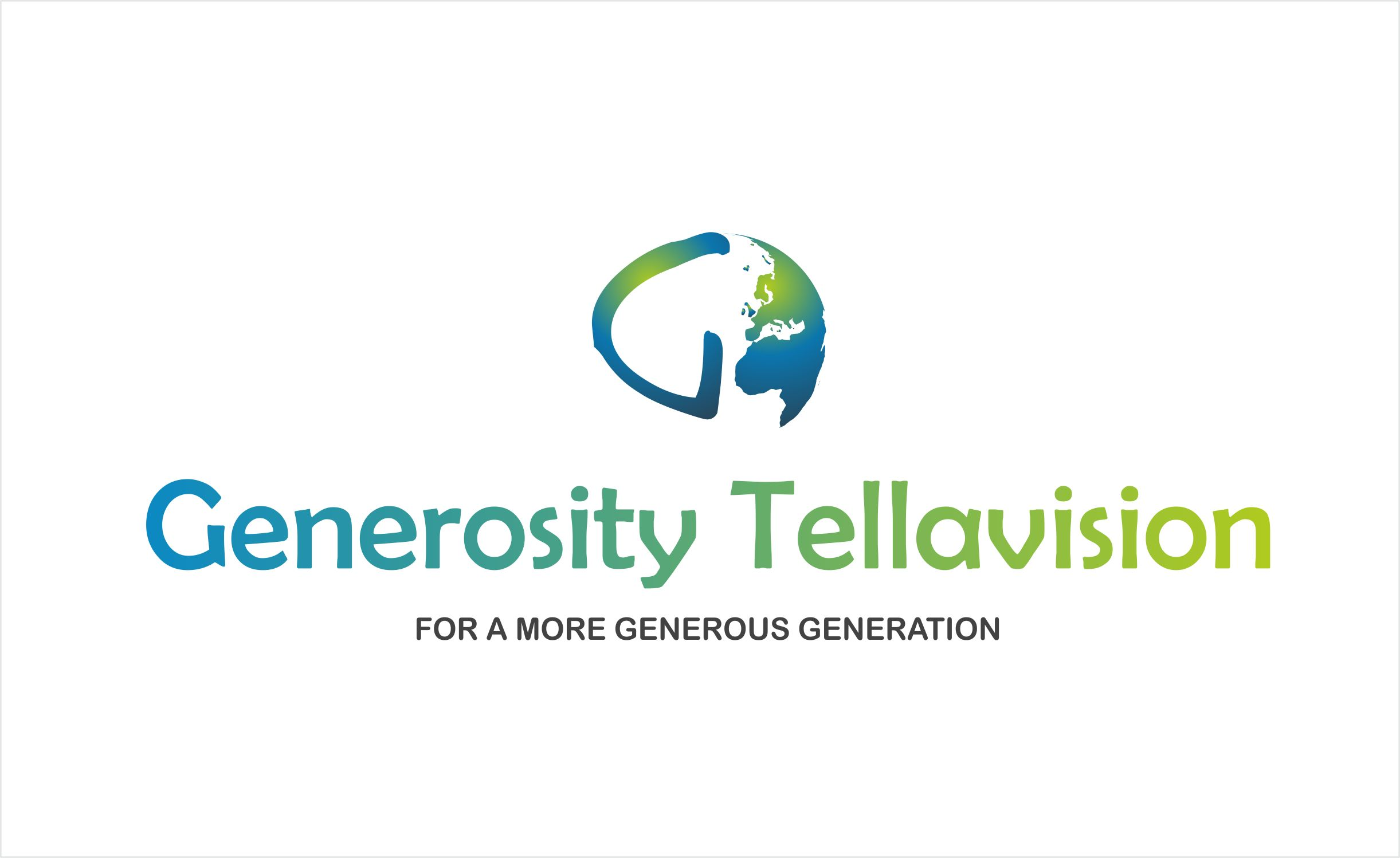 Logo Design by Asif Shaikh - Entry No. 72 in the Logo Design Contest Artistic Logo Design for Generosity TellAVision.