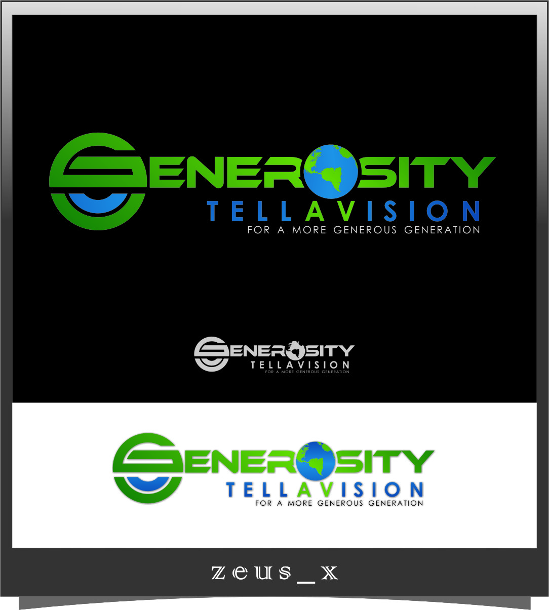 Logo Design by Ngepet_art - Entry No. 74 in the Logo Design Contest Artistic Logo Design for Generosity TellAVision.