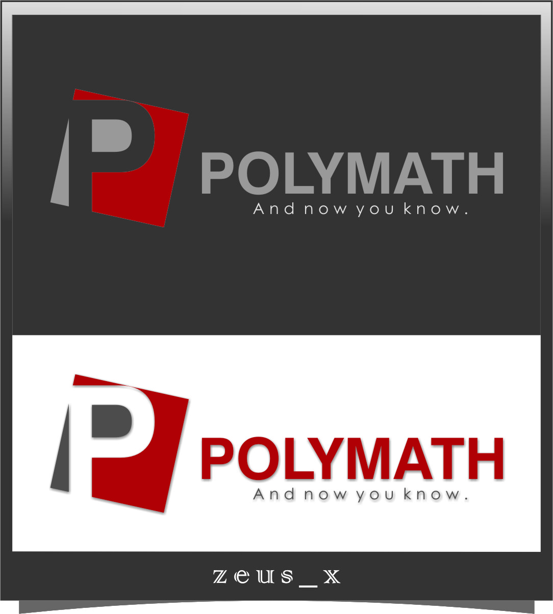 Logo Design by RasYa Muhammad Athaya - Entry No. 52 in the Logo Design Contest Imaginative Logo Design for Polymath.