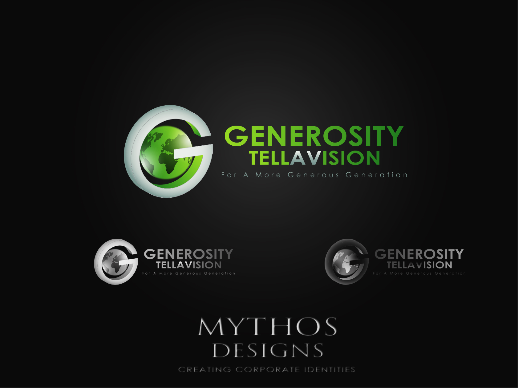 Logo Design by Mythos Designs - Entry No. 79 in the Logo Design Contest Artistic Logo Design for Generosity TellAVision.