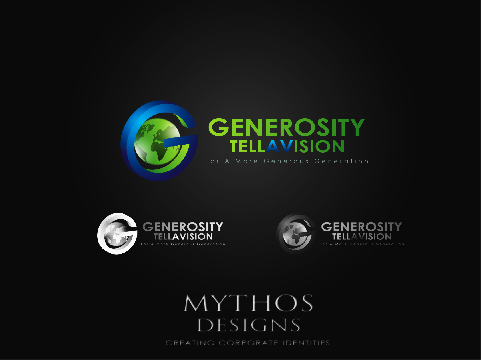 Logo Design by Mythos Designs - Entry No. 80 in the Logo Design Contest Artistic Logo Design for Generosity TellAVision.