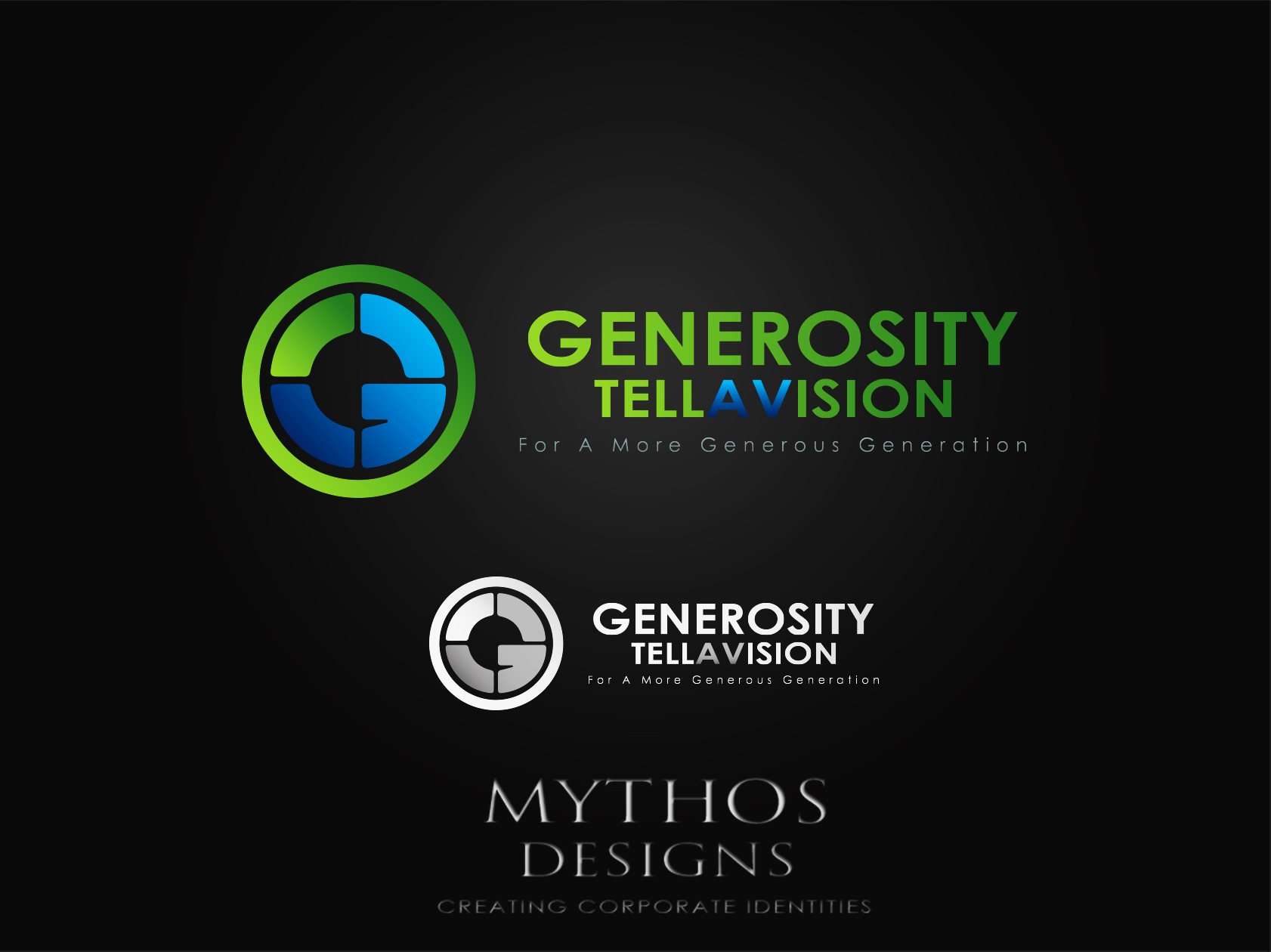 Logo Design by Mythos Designs - Entry No. 81 in the Logo Design Contest Artistic Logo Design for Generosity TellAVision.