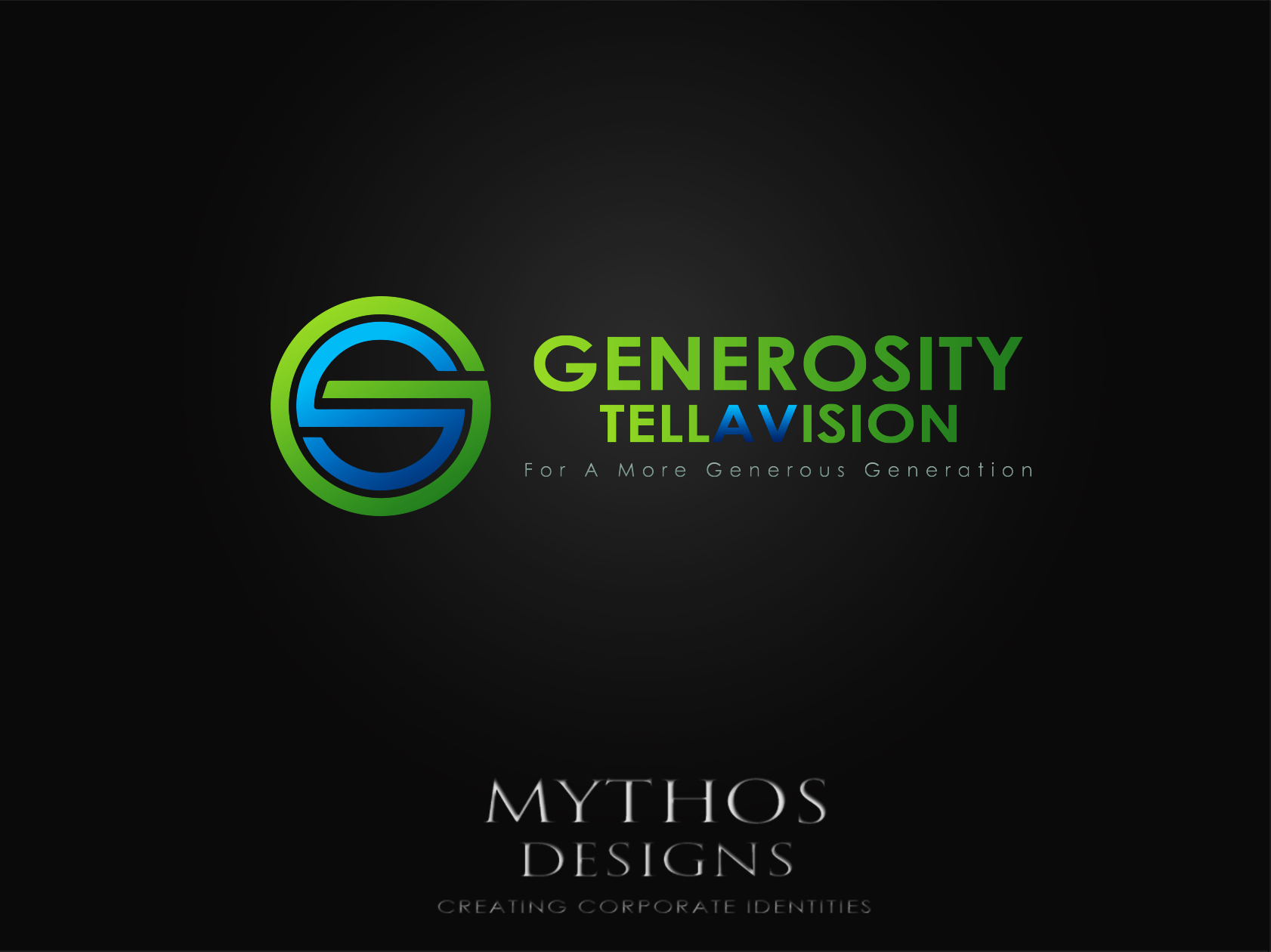 Logo Design by Mythos Designs - Entry No. 82 in the Logo Design Contest Artistic Logo Design for Generosity TellAVision.