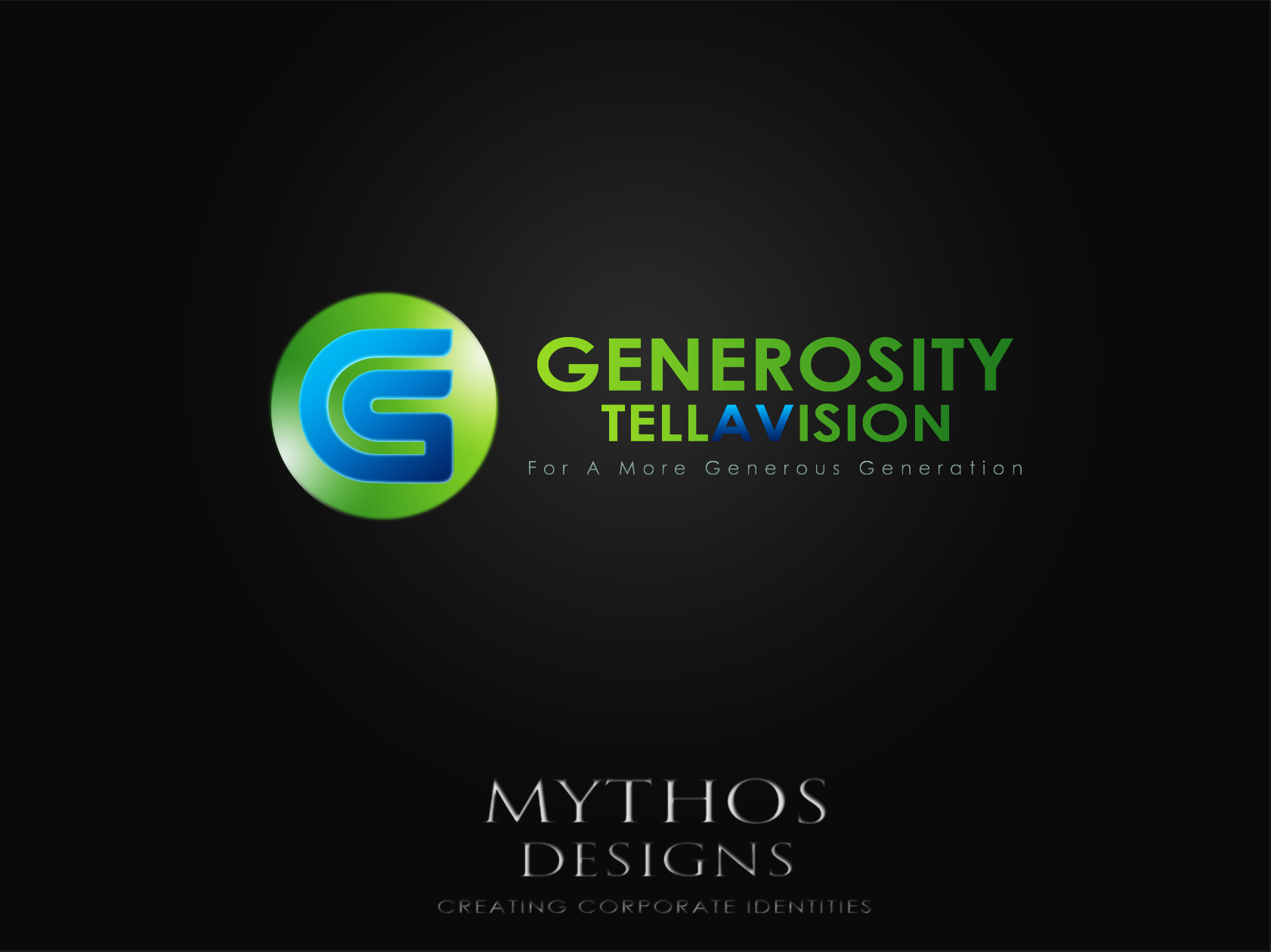 Logo Design by Mythos Designs - Entry No. 83 in the Logo Design Contest Artistic Logo Design for Generosity TellAVision.