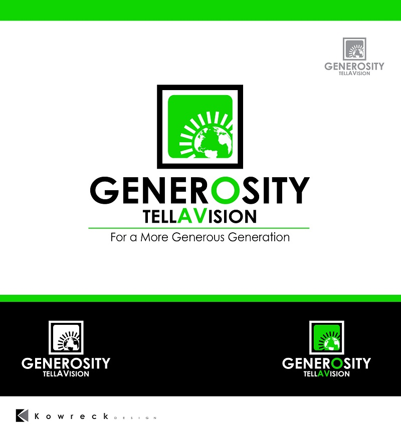 Logo Design by kowreck - Entry No. 84 in the Logo Design Contest Artistic Logo Design for Generosity TellAVision.