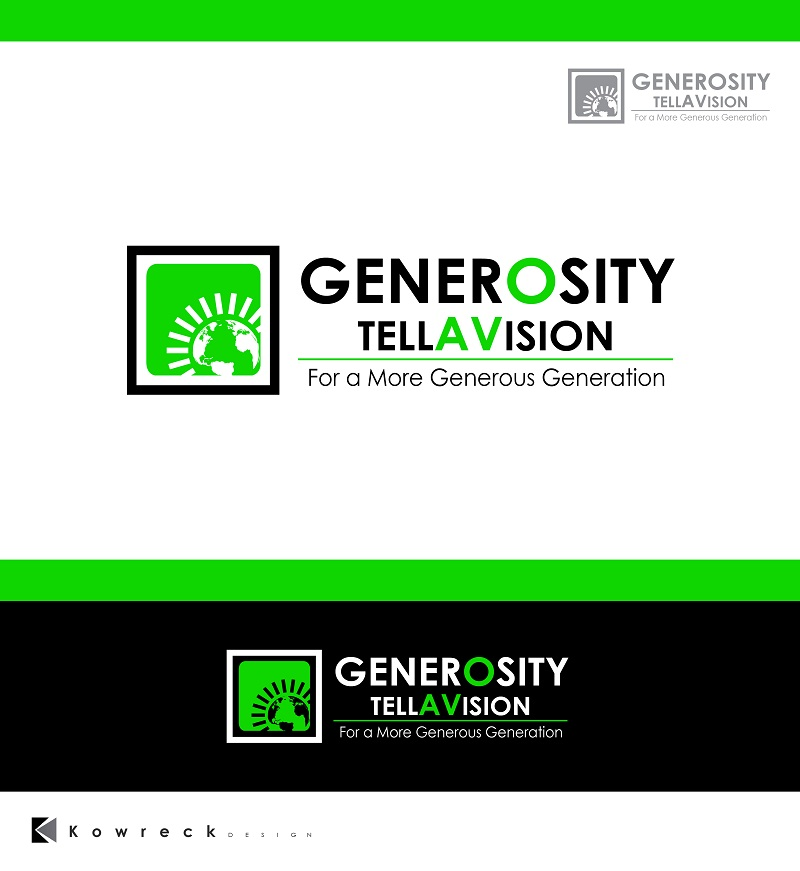 Logo Design by kowreck - Entry No. 86 in the Logo Design Contest Artistic Logo Design for Generosity TellAVision.