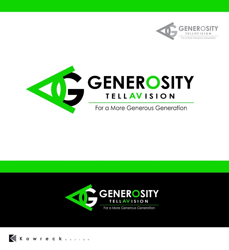 Logo Design by kowreck - Entry No. 87 in the Logo Design Contest Artistic Logo Design for Generosity TellAVision.