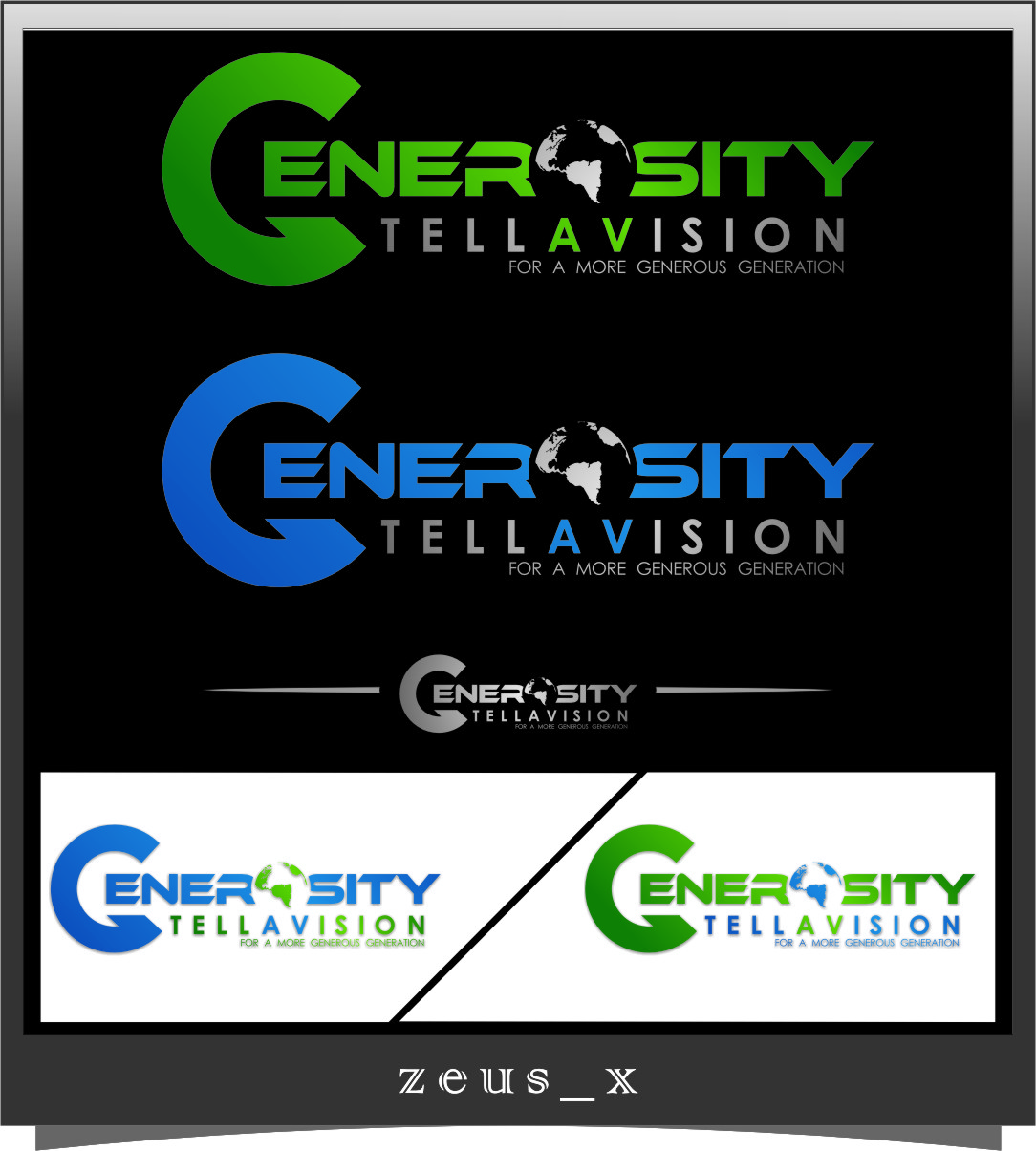 Logo Design by Ngepet_art - Entry No. 94 in the Logo Design Contest Artistic Logo Design for Generosity TellAVision.