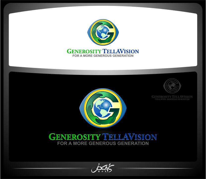 Logo Design by joca - Entry No. 97 in the Logo Design Contest Artistic Logo Design for Generosity TellAVision.