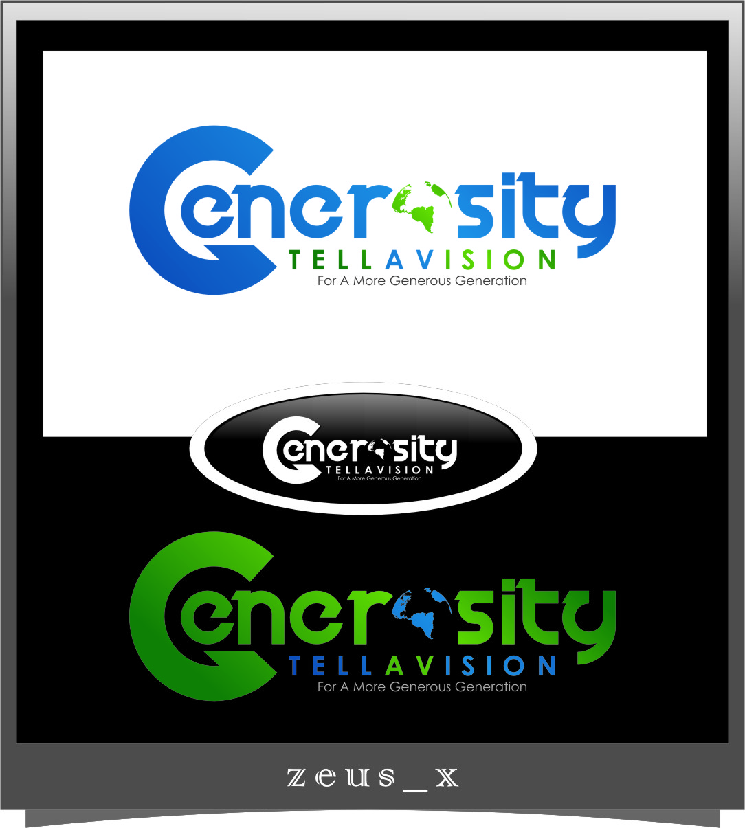 Logo Design by RasYa Muhammad Athaya - Entry No. 99 in the Logo Design Contest Artistic Logo Design for Generosity TellAVision.