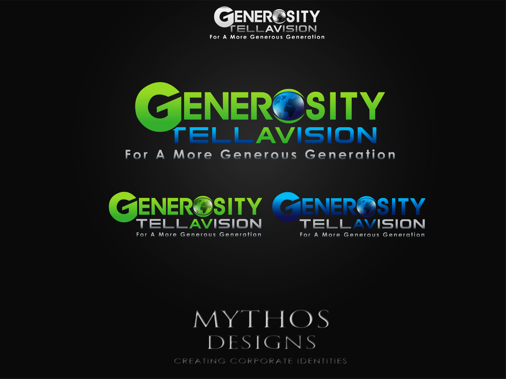 Logo Design by Mythos Designs - Entry No. 101 in the Logo Design Contest Artistic Logo Design for Generosity TellAVision.