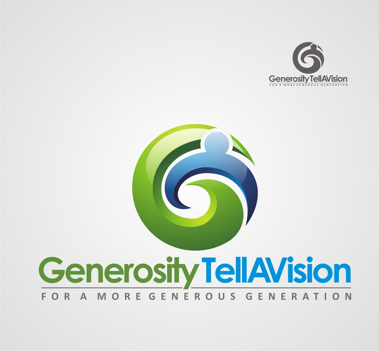 Logo Design by Reivan Ferdinan - Entry No. 102 in the Logo Design Contest Artistic Logo Design for Generosity TellAVision.