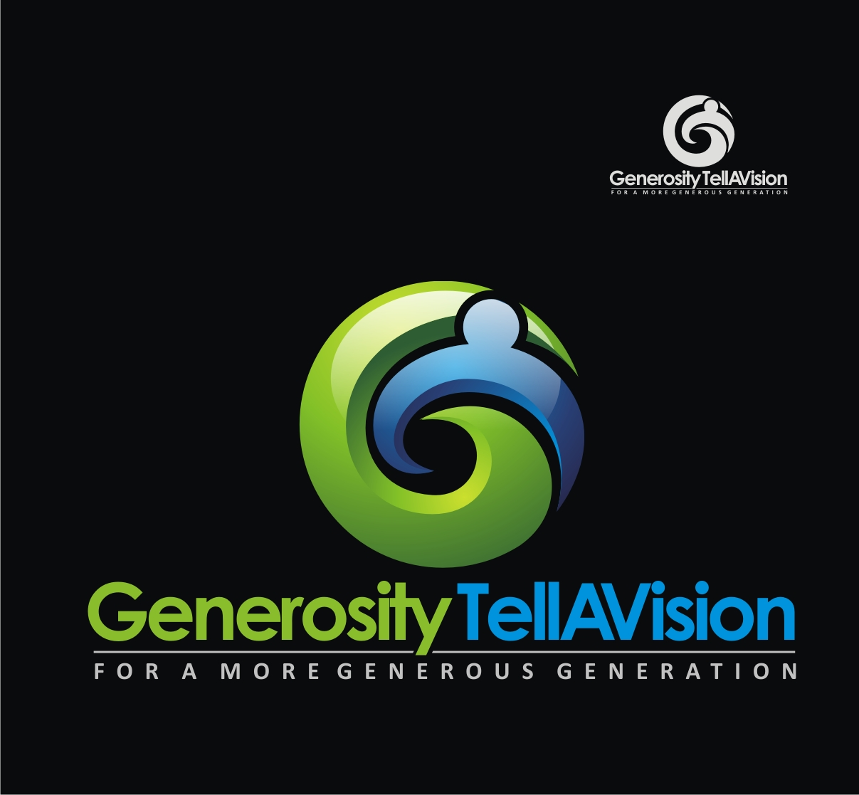 Logo Design by Reivan Ferdinan - Entry No. 103 in the Logo Design Contest Artistic Logo Design for Generosity TellAVision.