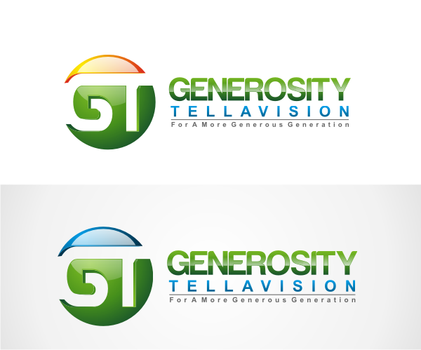 Logo Design by Deni Prawira - Entry No. 107 in the Logo Design Contest Artistic Logo Design for Generosity TellAVision.