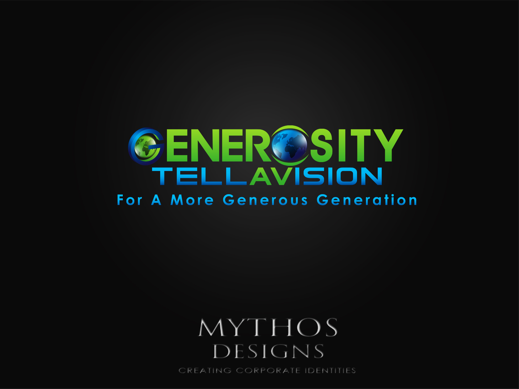 Logo Design by Mythos Designs - Entry No. 111 in the Logo Design Contest Artistic Logo Design for Generosity TellAVision.