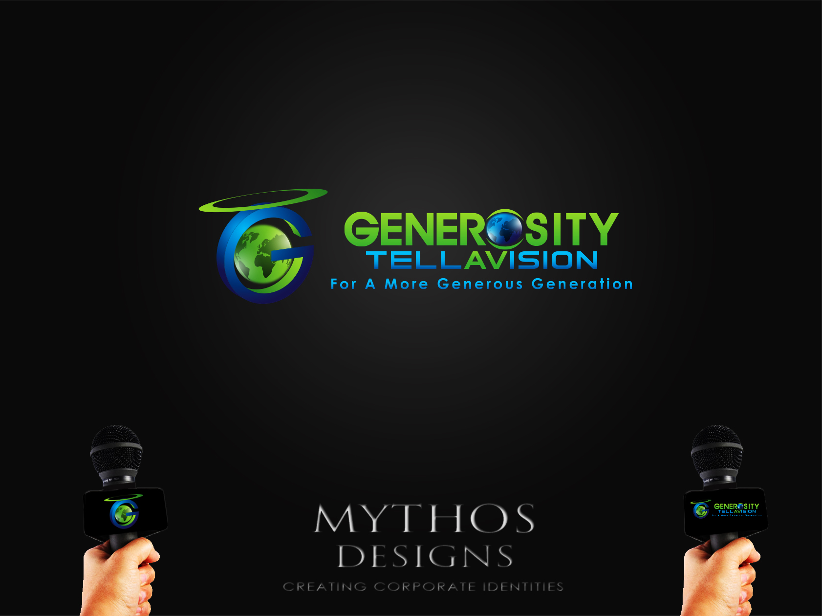 Logo Design by Mythos Designs - Entry No. 112 in the Logo Design Contest Artistic Logo Design for Generosity TellAVision.