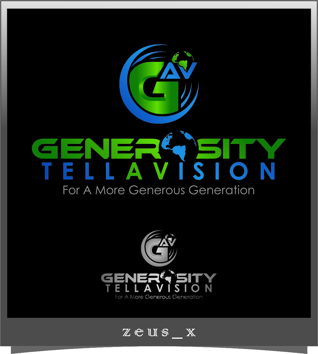 Logo Design by Ngepet_art - Entry No. 118 in the Logo Design Contest Artistic Logo Design for Generosity TellAVision.