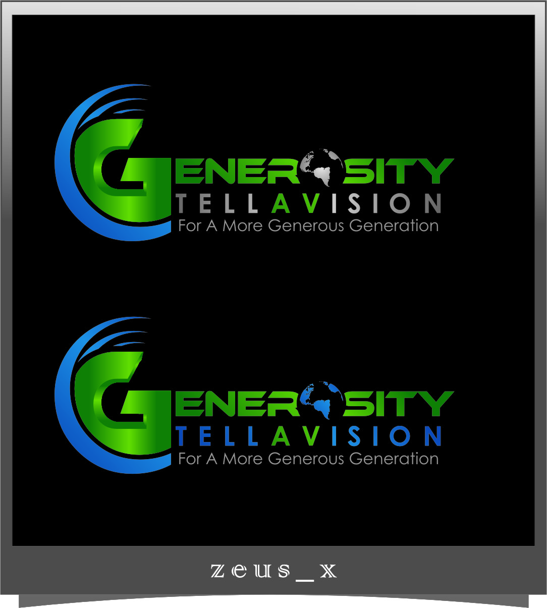 Logo Design by Ngepet_art - Entry No. 119 in the Logo Design Contest Artistic Logo Design for Generosity TellAVision.