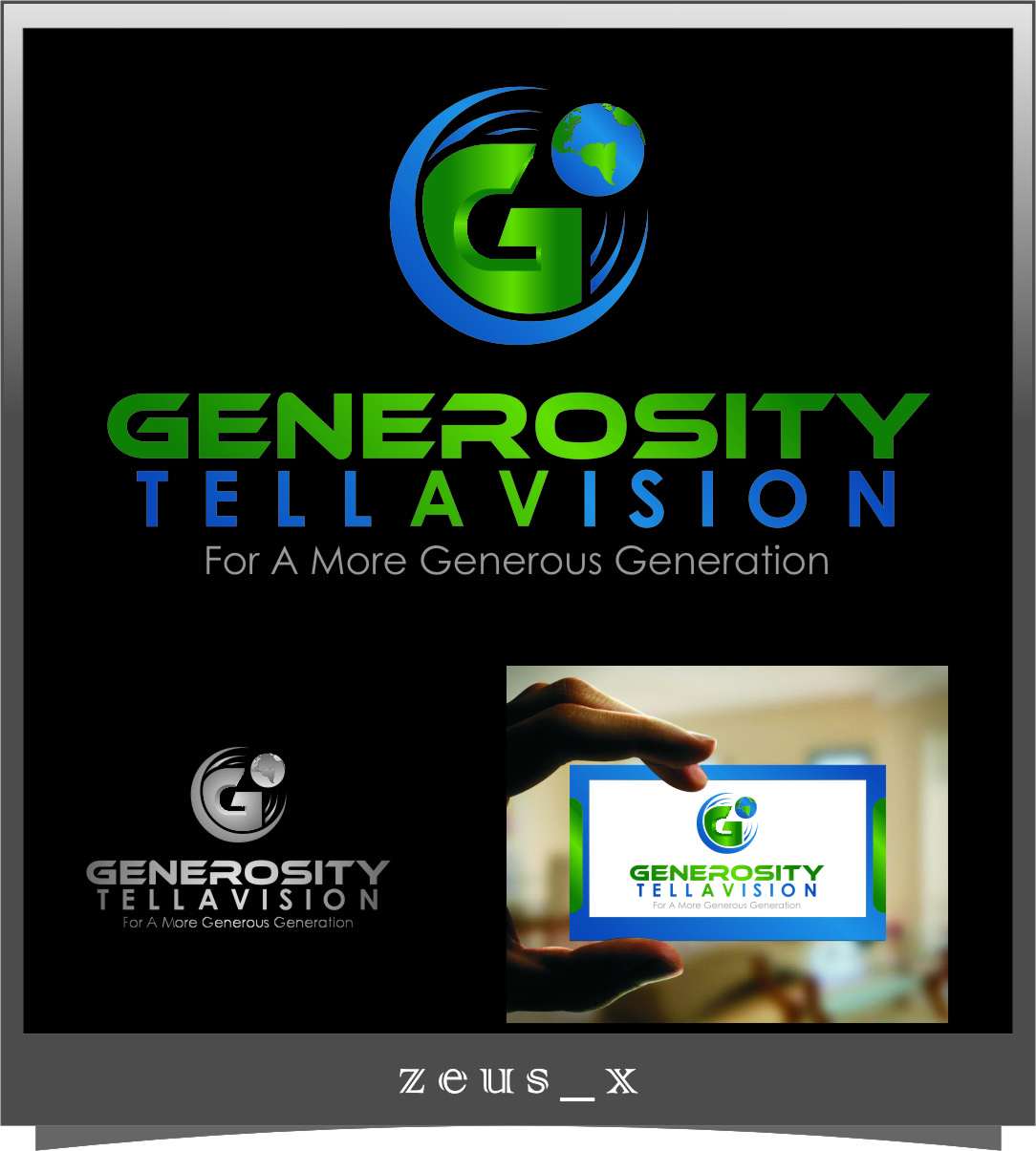 Logo Design by RasYa Muhammad Athaya - Entry No. 120 in the Logo Design Contest Artistic Logo Design for Generosity TellAVision.