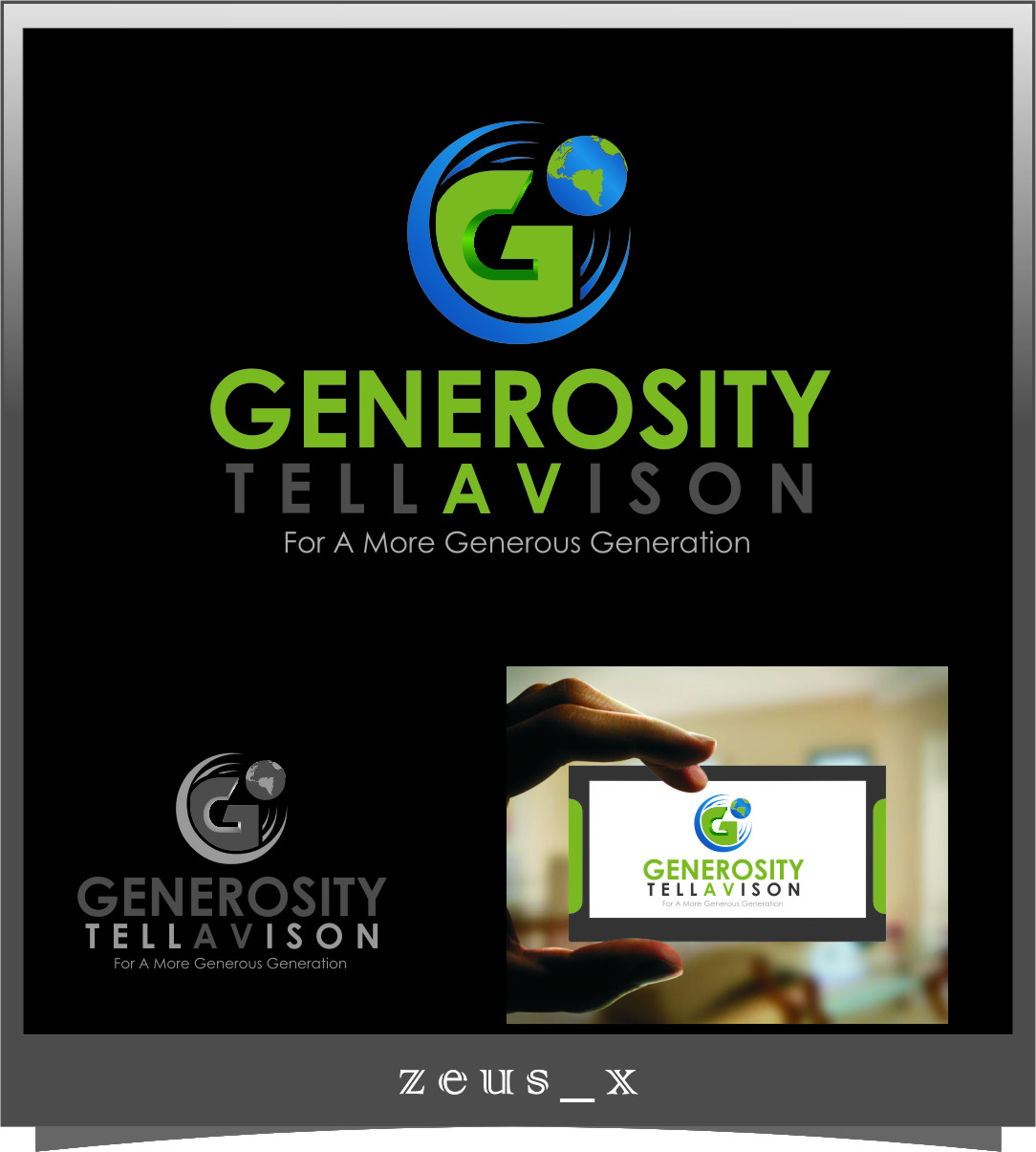 Logo Design by Ngepet_art - Entry No. 123 in the Logo Design Contest Artistic Logo Design for Generosity TellAVision.