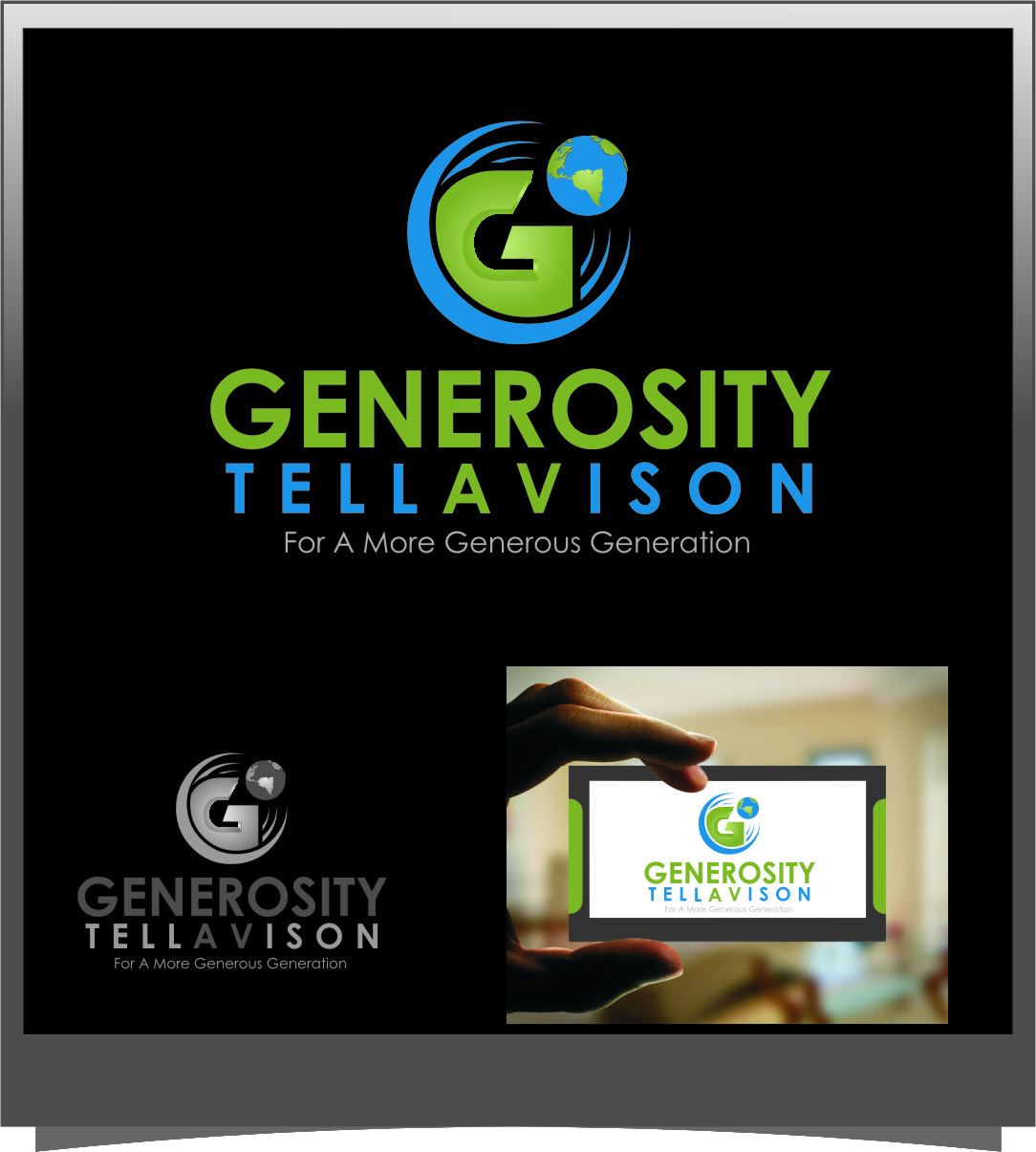Logo Design by RasYa Muhammad Athaya - Entry No. 124 in the Logo Design Contest Artistic Logo Design for Generosity TellAVision.