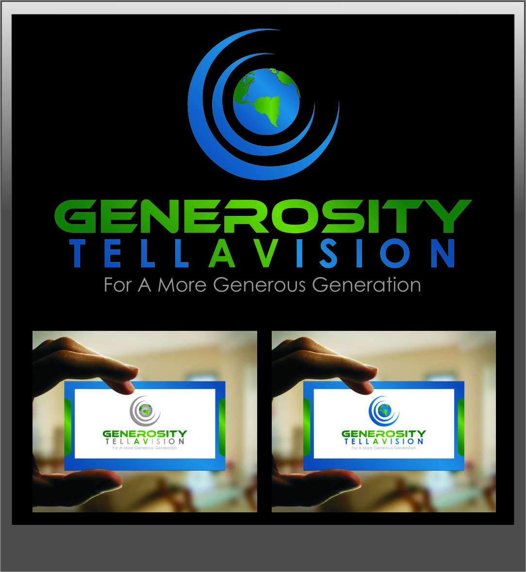 Logo Design by Ngepet_art - Entry No. 126 in the Logo Design Contest Artistic Logo Design for Generosity TellAVision.