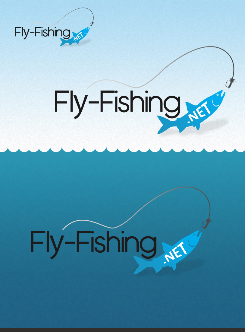Logo Design by Robert Turla - Entry No. 78 in the Logo Design Contest Artistic Logo Design for fly-fishing.net.