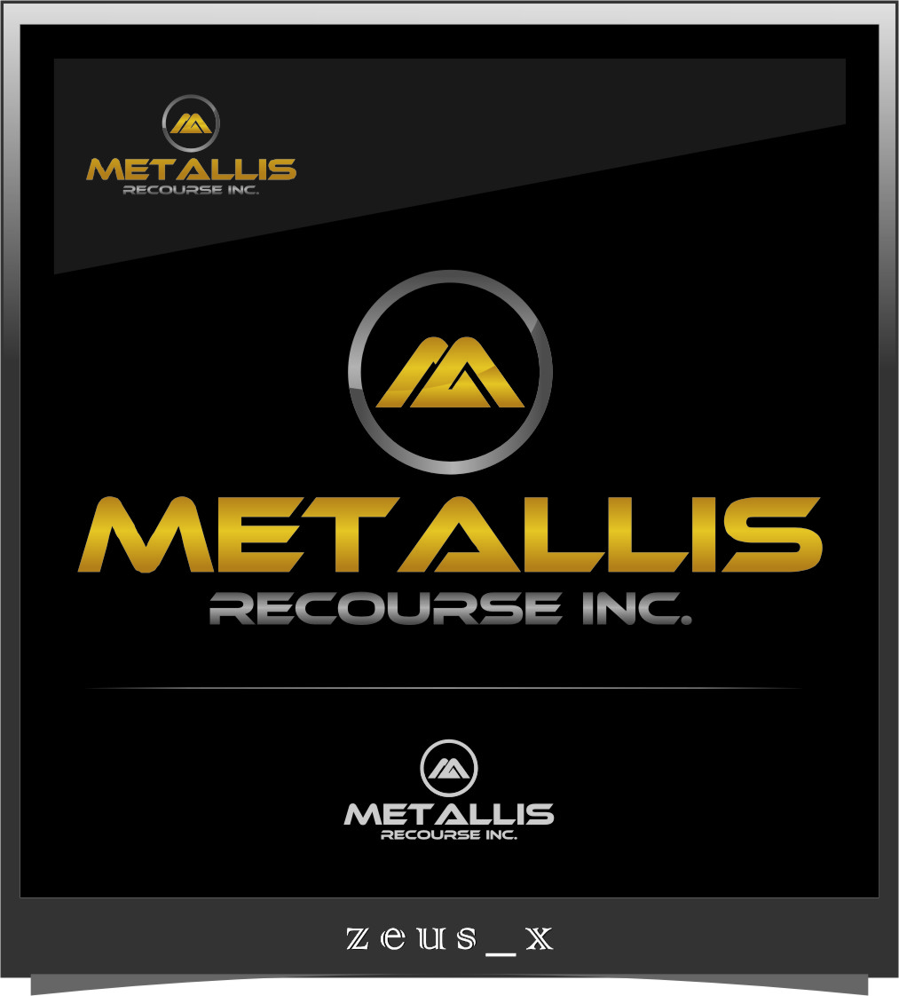 Logo Design by RoSyid Rono-Rene On Java - Entry No. 75 in the Logo Design Contest Metallis Resources Inc Logo Design.