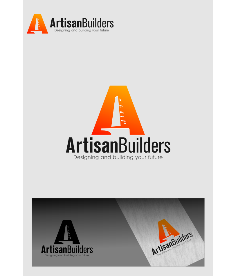 Logo Design by graphicleaf - Entry No. 216 in the Logo Design Contest Captivating Logo Design for Artisan Builders.
