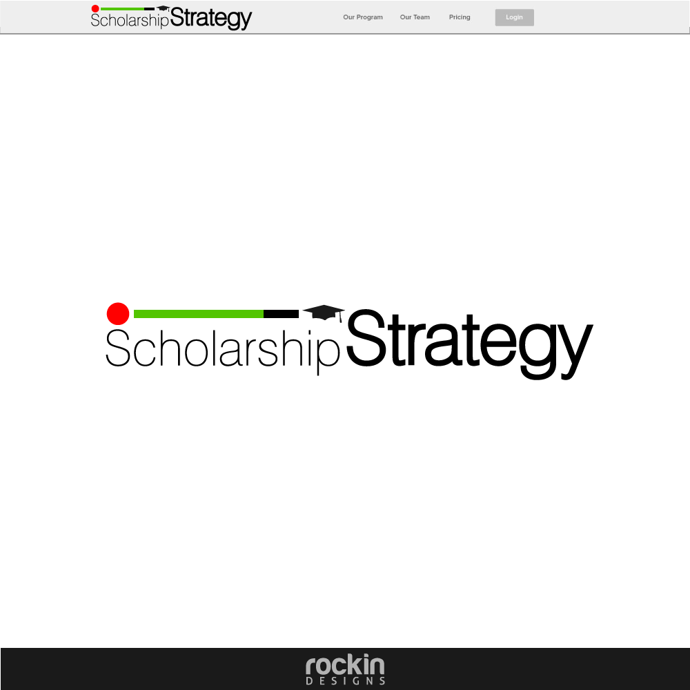 Logo Design by rockin - Entry No. 10 in the Logo Design Contest Captivating Logo Design for Scholarshipstrategy.com.