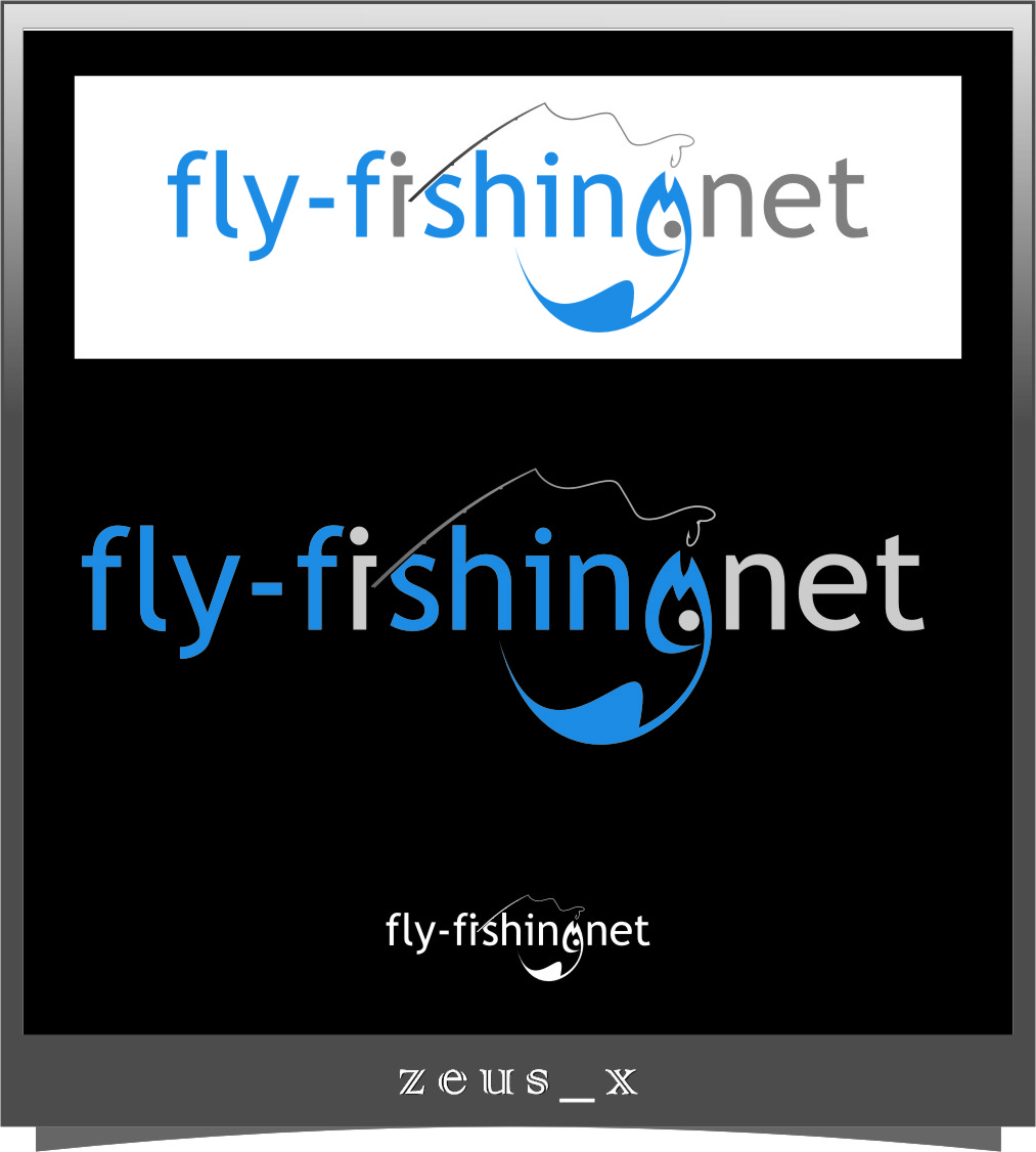 Logo Design by Ngepet_art - Entry No. 96 in the Logo Design Contest Artistic Logo Design for fly-fishing.net.