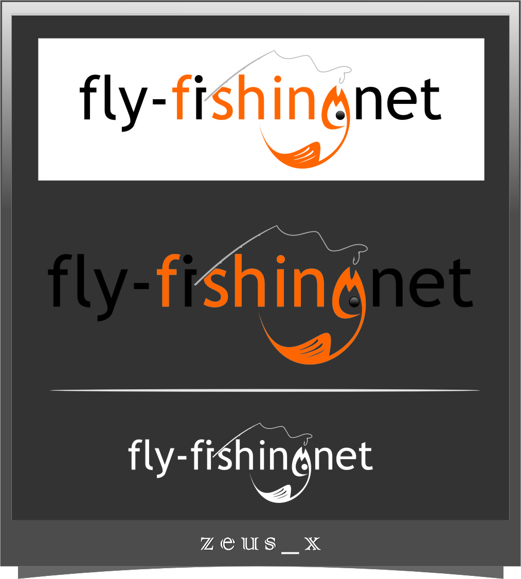Logo Design by Ngepet_art - Entry No. 97 in the Logo Design Contest Artistic Logo Design for fly-fishing.net.
