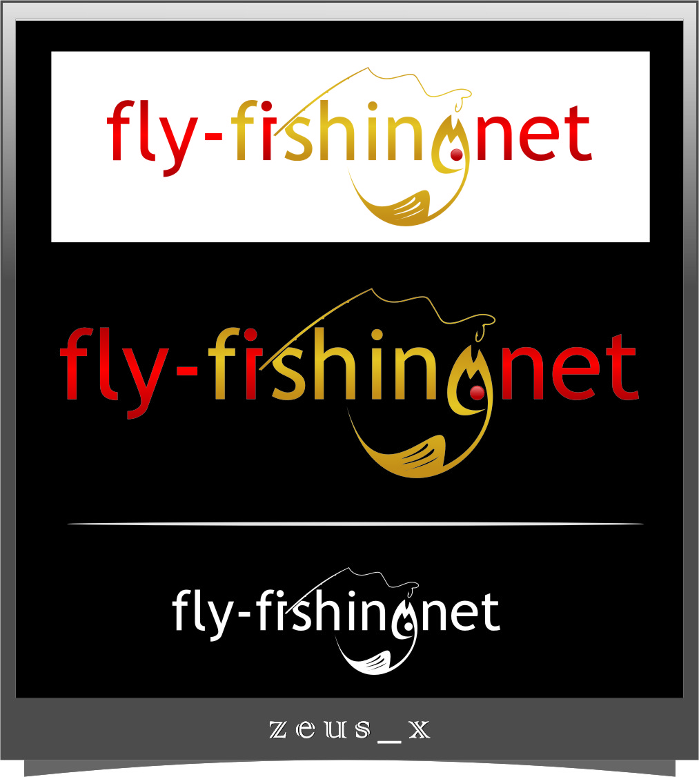 Logo Design by Ngepet_art - Entry No. 100 in the Logo Design Contest Artistic Logo Design for fly-fishing.net.