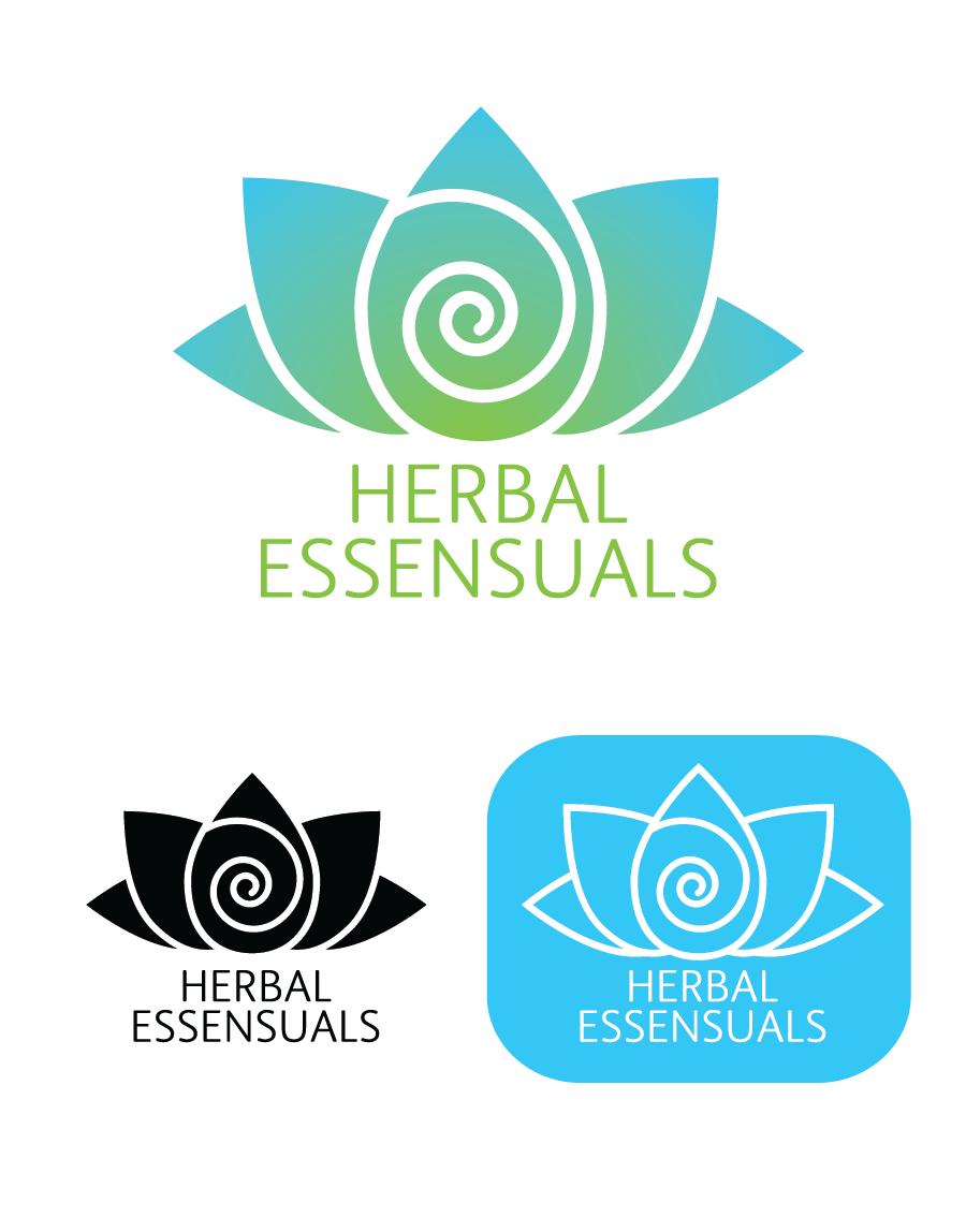Logo Design by Christina Evans - Entry No. 1 in the Logo Design Contest Captivating Logo Design for Herbal Essensuals.