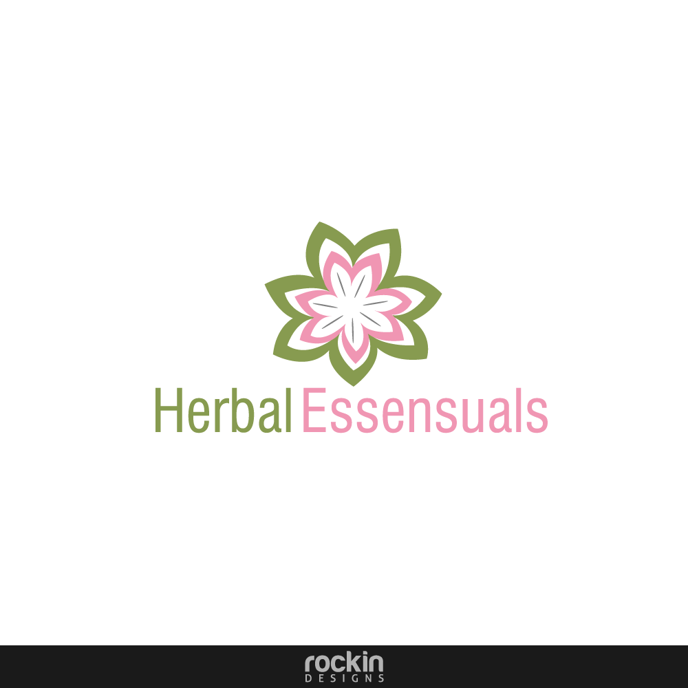 Logo Design by rockin - Entry No. 6 in the Logo Design Contest Captivating Logo Design for Herbal Essensuals.