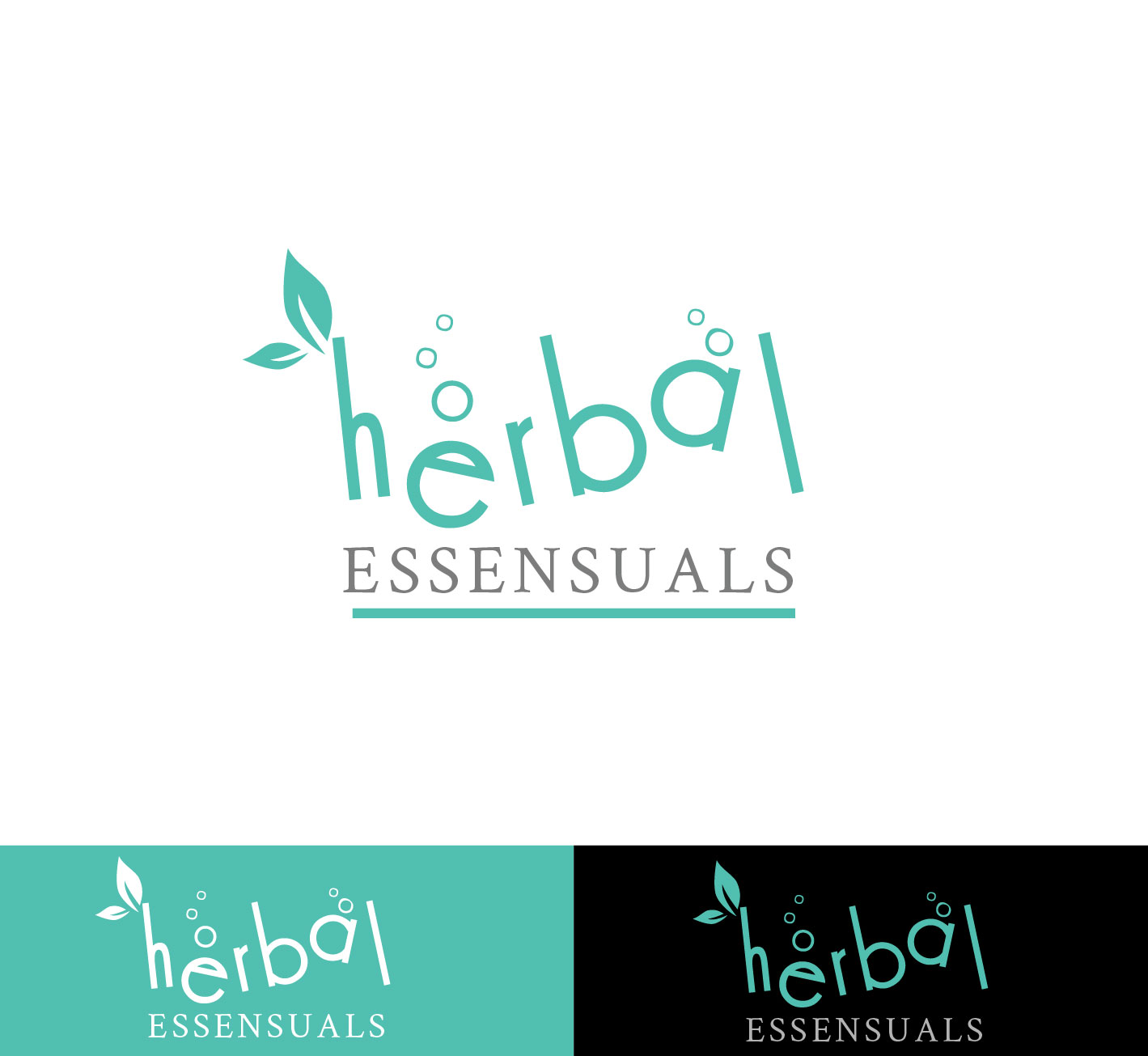 Logo Design by Darina Dimitrova - Entry No. 9 in the Logo Design Contest Captivating Logo Design for Herbal Essensuals.