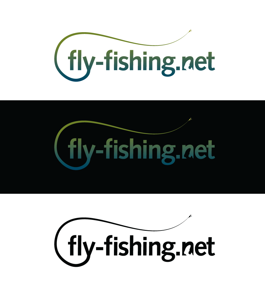 Logo Design by Christina Evans - Entry No. 132 in the Logo Design Contest Artistic Logo Design for fly-fishing.net.