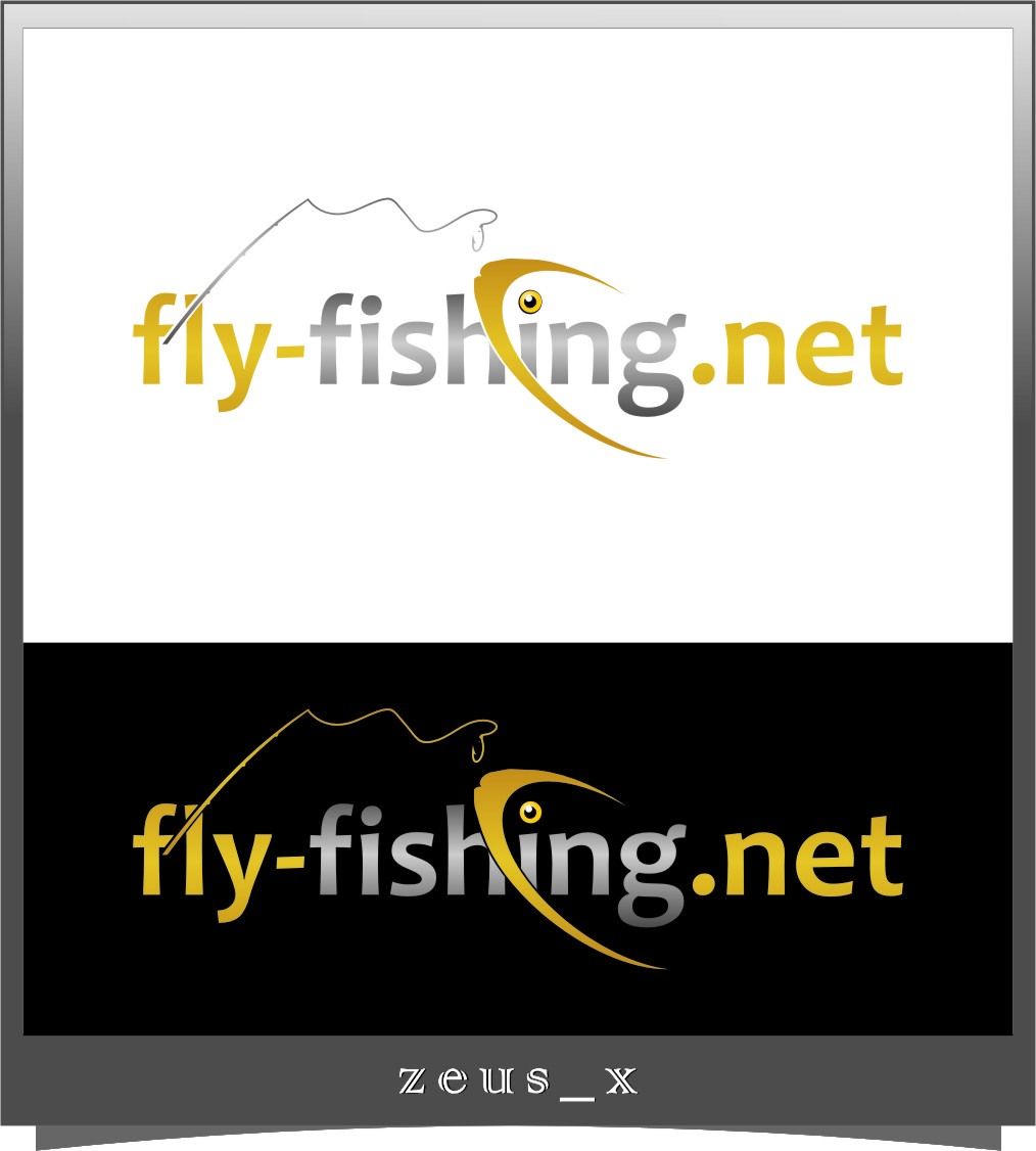 Logo Design by Ngepet_art - Entry No. 140 in the Logo Design Contest Artistic Logo Design for fly-fishing.net.