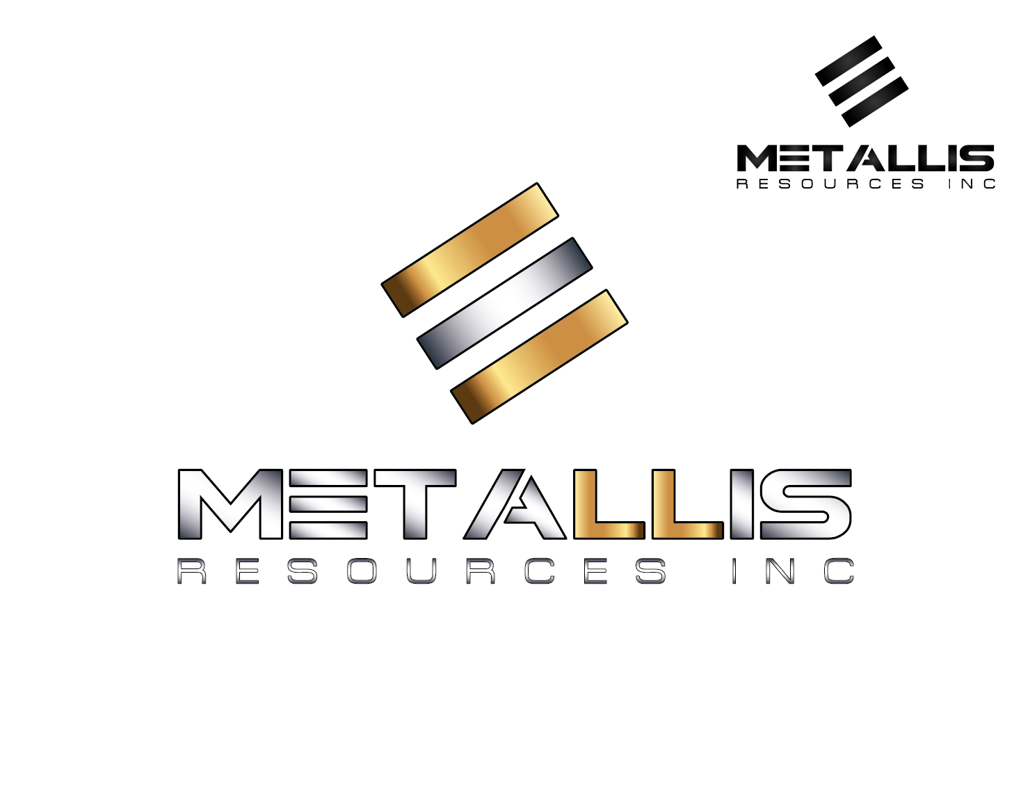Logo Design by VENTSISLAV KOVACHEV - Entry No. 109 in the Logo Design Contest Metallis Resources Inc Logo Design.