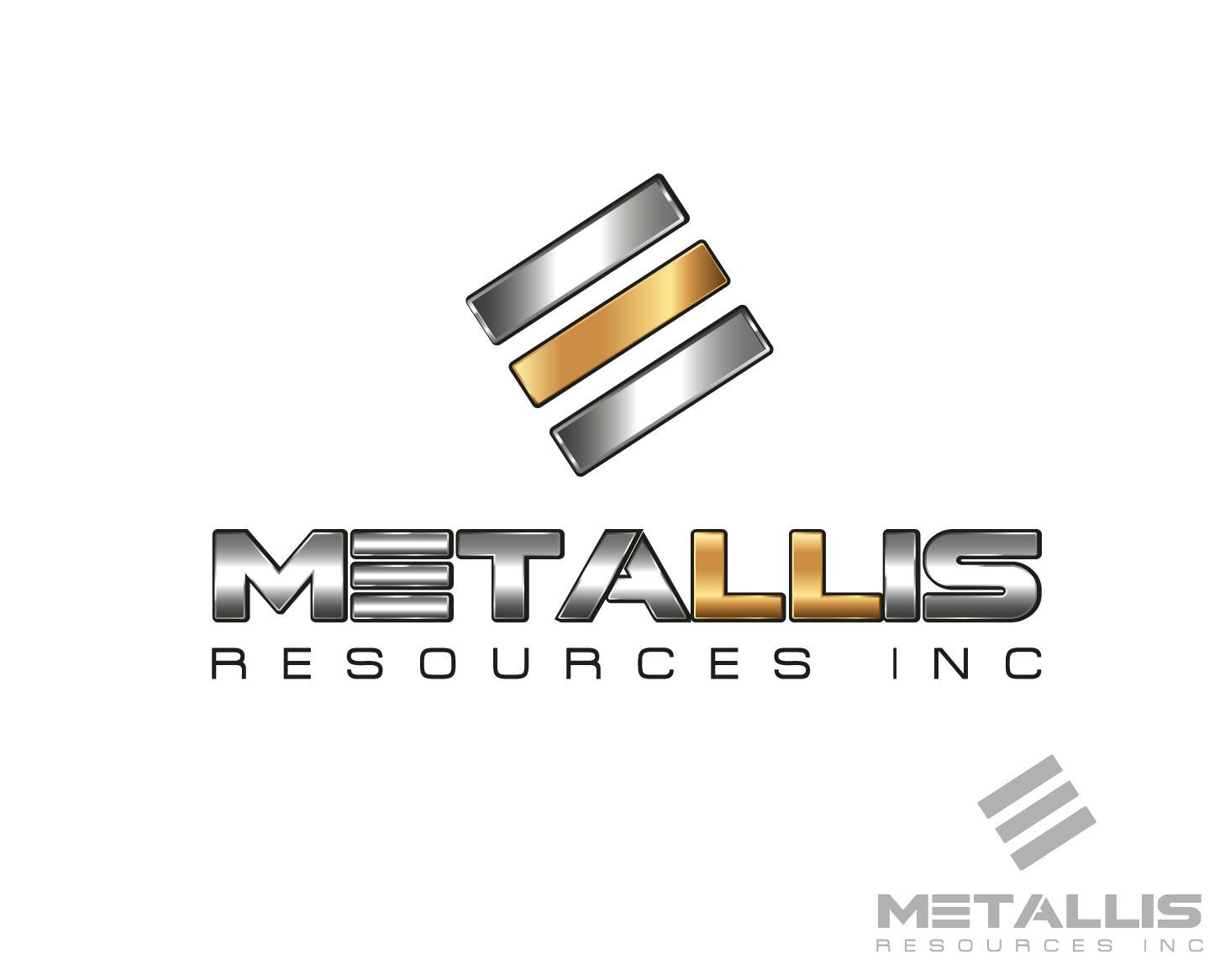 Logo Design by VENTSISLAV KOVACHEV - Entry No. 111 in the Logo Design Contest Metallis Resources Inc Logo Design.
