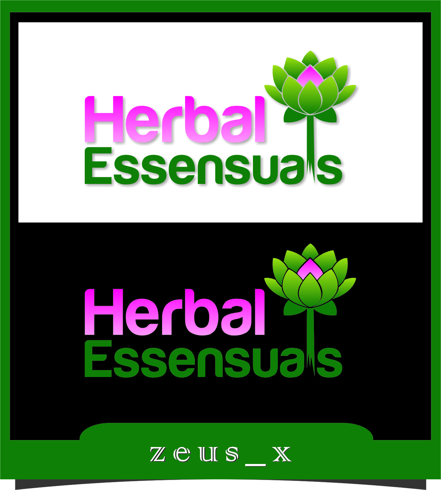 Logo Design by RoSyid Rono-Rene On Java - Entry No. 24 in the Logo Design Contest Captivating Logo Design for Herbal Essensuals.